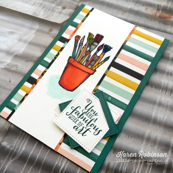 Little Paper Party, Crafting Forever, Work of Art, Stampin' Blends Markers, #3