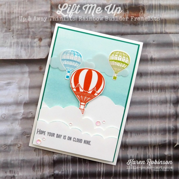 Little Paper Party, Lift Me Up, Up & Away Thinlits, Rainbow Builder Framelits, #1