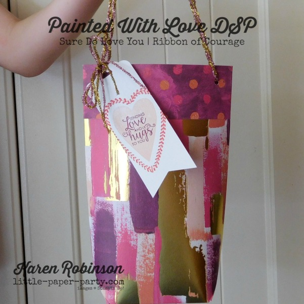 Little Paper Party, Painted With Love DSP, Sure Do Love You, Ribbon of Courage, #1