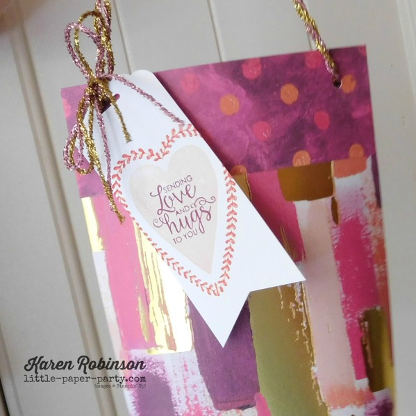 Little Paper Party, Painted With Love DSP, Sure Do Love You, Ribbon of Courage, #3