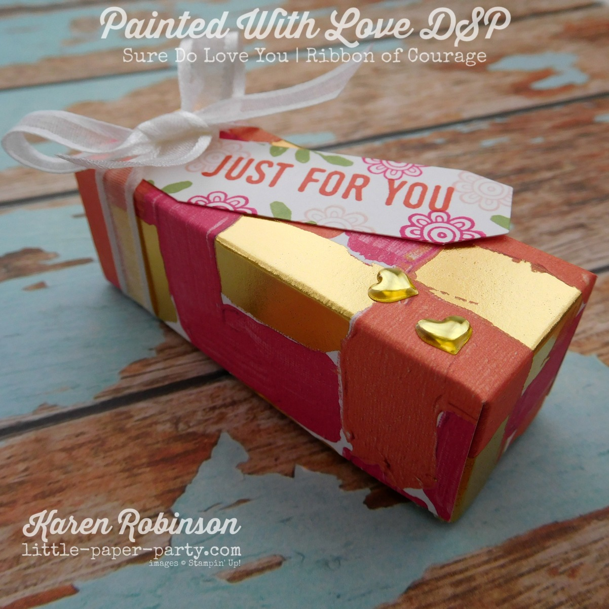 Little Paper Party, Painted With Love DSP, Sure Do Love You, Ribbon of Courage, #4.jpg