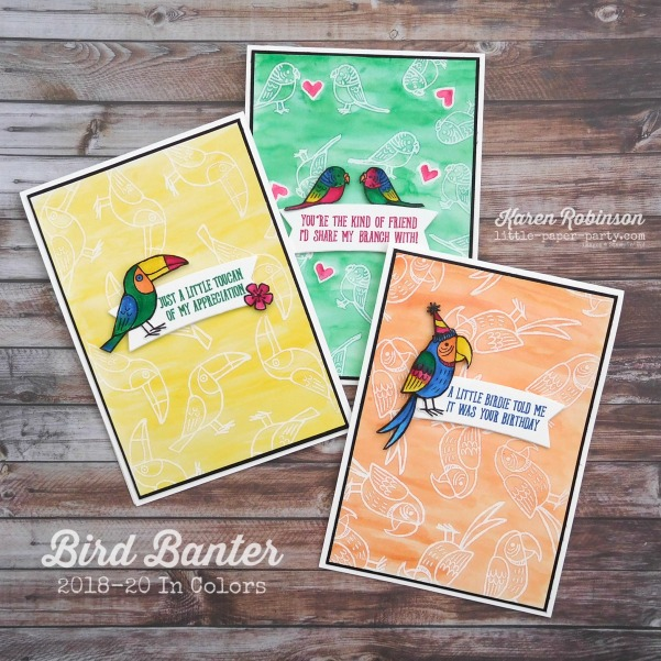 Little Paper Party, Bird Banter, 2018 - 20 In Colors, #1