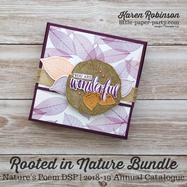 Little Paper Party, Rooted in Nature Bundle, Nature's Poem DSP, #1