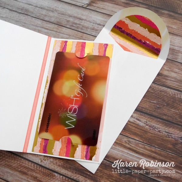 Little Paper Party, Tabs for Everything, Painted With Love DSP, Narrow Note Cards & Envelopes, #3