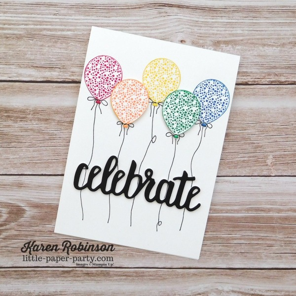 Little Paper Party, 2018-2020 In Colors, Celebrate You Thinlits, Happy Birthday Gorgeous, #1