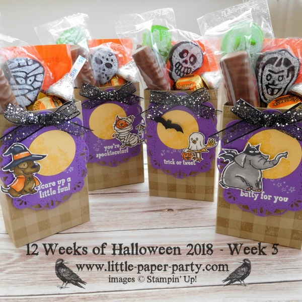 Little Paper Party, 12 Weeks of Halloween 2018, Buffalo Check, Trick or Tweet, #1