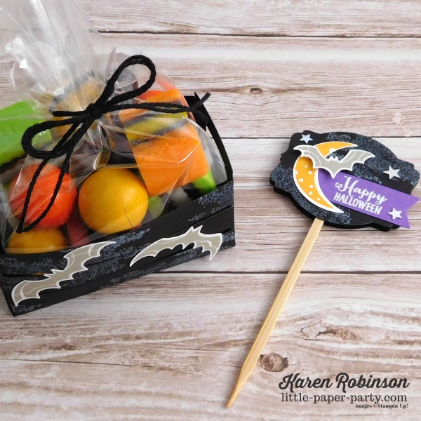 Little Paper Party, 12 Weeks of Halloween 2018, Spooky Sweets Bundle, Wood Crate Framelits, #4