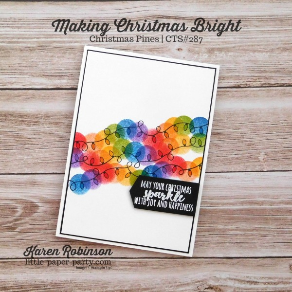 Little Paper Party, Making Christmas Bright, Christmas Pines, CTS#287, #1