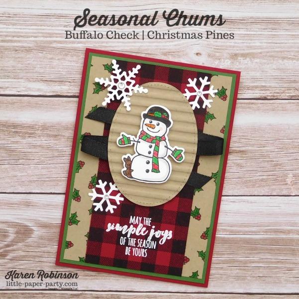 Little Paper Party, Seasonal Chums, Buffalo Check, Watercolor Pencils, #1