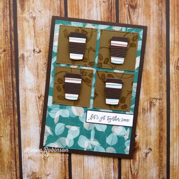Little Paper Party, Coffee Cup Framelits, Love You To Pieces, 1