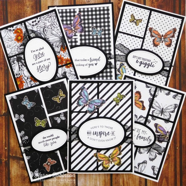 Little Paper Party, Part of My Story, Botanical Butterfly DSP, 1