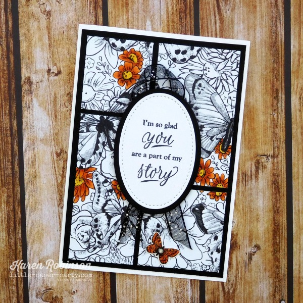 Little Paper Party, Part of My Story, Botanical Butterfly DSP, 3