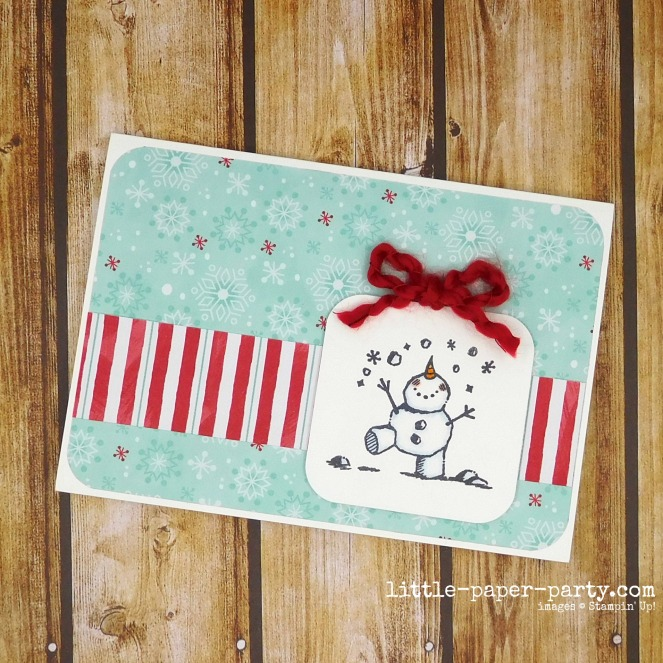 Little Paper Party, #simplestamping, Snowman Season, 1