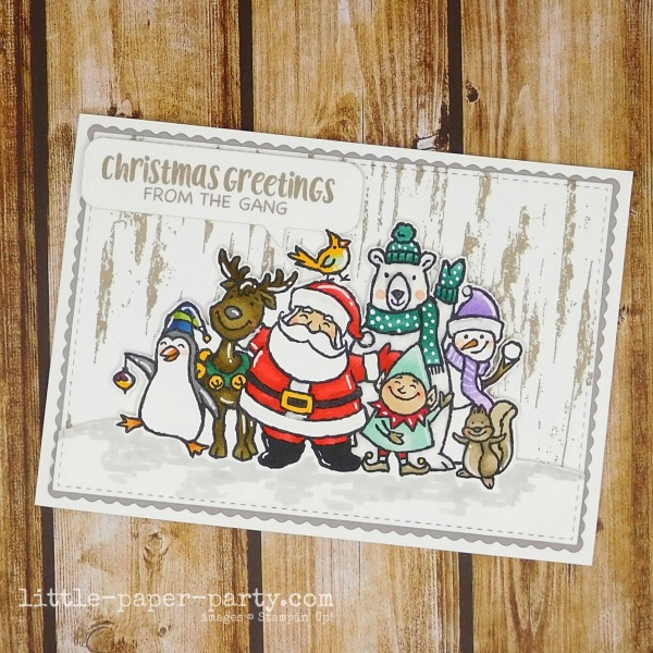 Little Paper Party, Christmas Crowd, Birch, 1