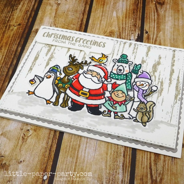 Little Paper Party, Christmas Crowd, Birch, 3