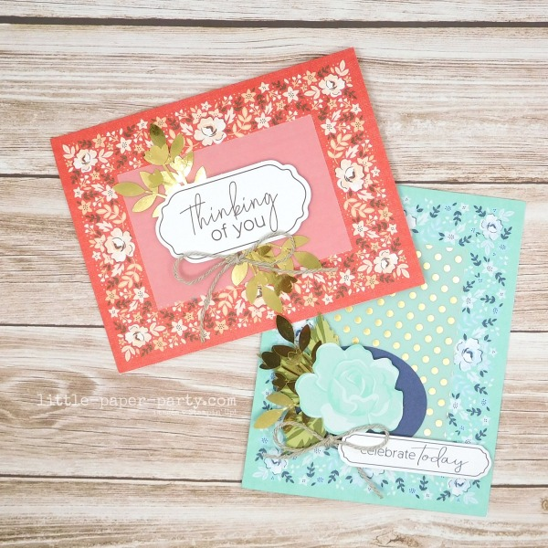Little Paper Party, Kerchief Card Kit, Stitched All Around, 1