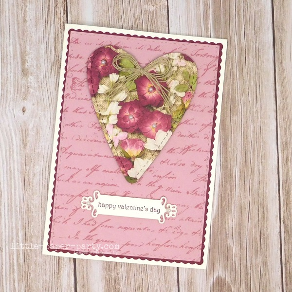 Little Paper Party, Pressed Petals DSP, Be Mine Stitched Dies, Valentine's Day, 1