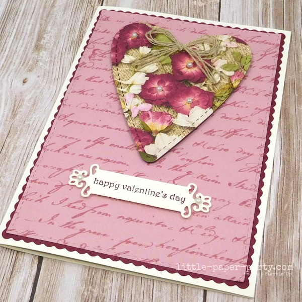 Little Paper Party, Pressed Petals DSP, Be Mine Stitched Dies, Valentine's Day, 2