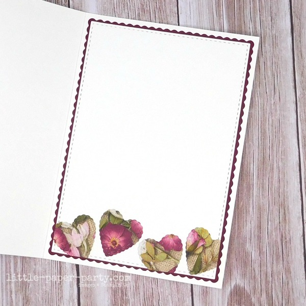 Little Paper Party, Pressed Petals DSP, Be Mine Stitched Dies, Valentine's Day, 5