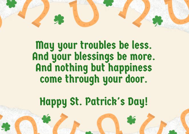 Green Orange Clover Leaf St. Patrick's Day Card