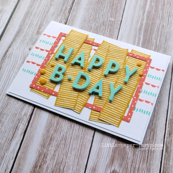 Little Paper Party, Playing With Patterns Suite, Happy Birthday, 1
