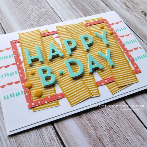 Little Paper Party, Playing With Patterns Suite, Happy Birthday, 2