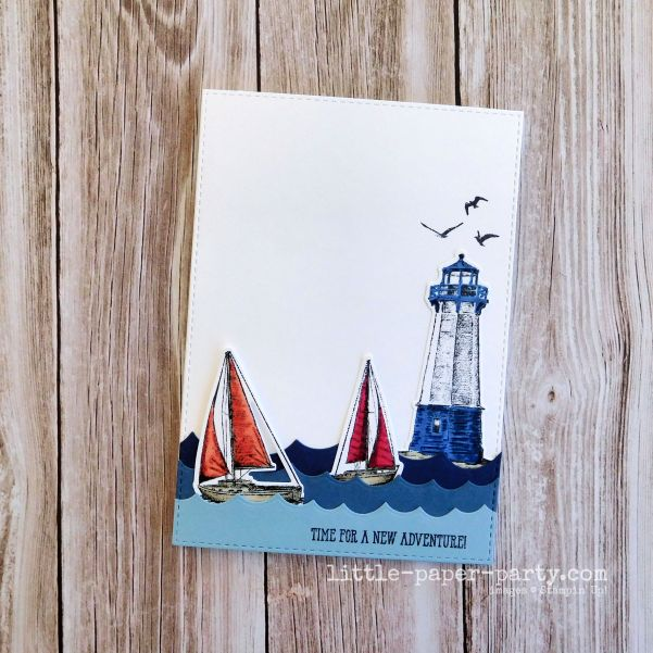 Little Paper Party, Sailing Home, CTD605, AAACARDS171, 1