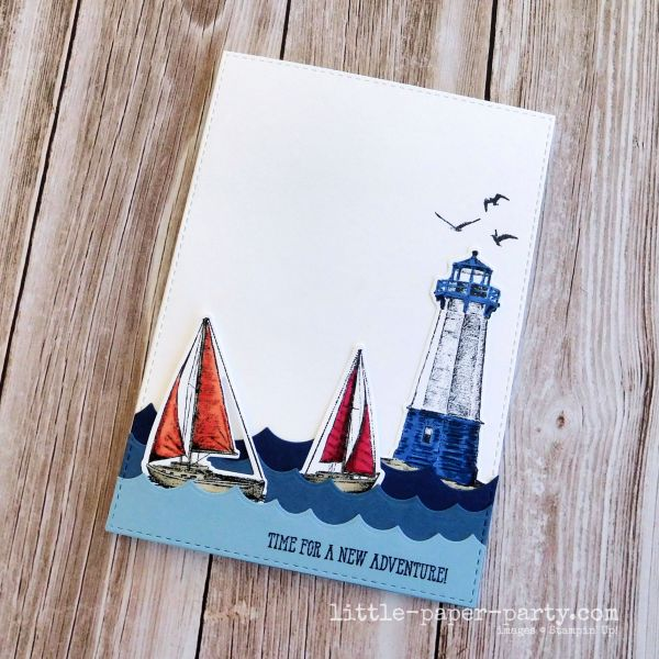 Little Paper Party, Sailing Home, CTD605, AAACARDS171, 2