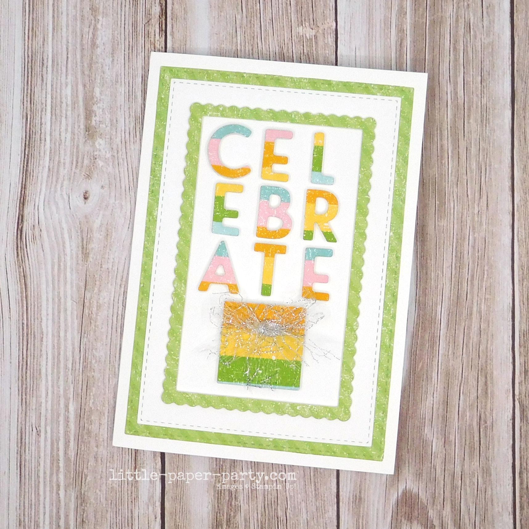 Little Paper Party, Playful Alphabet, Stitched Shapes Dies, 1