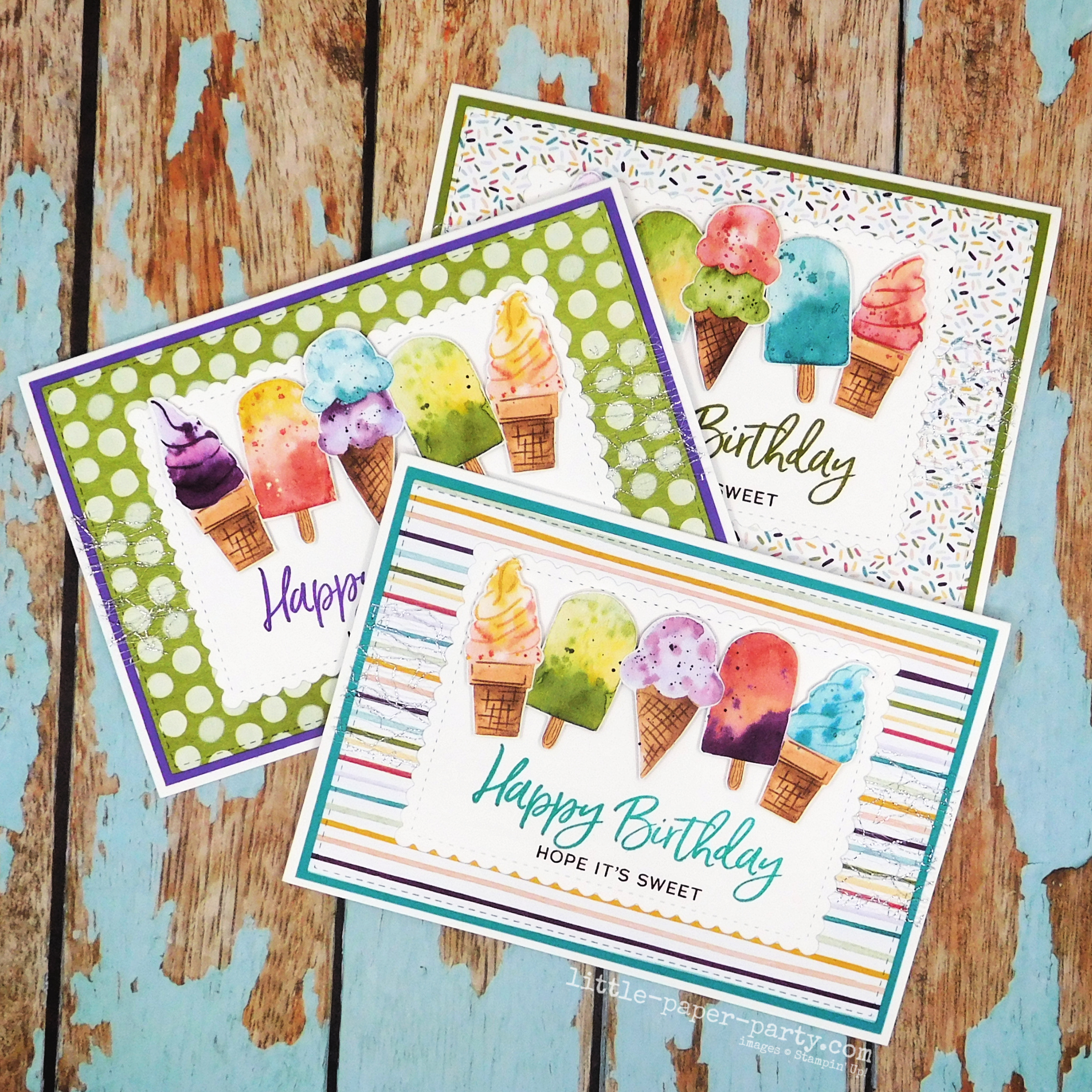 Little Paper Party, Sweet Ice Cream, Ice Cream Corner DSP, Stitched So Sweetly Dies 1