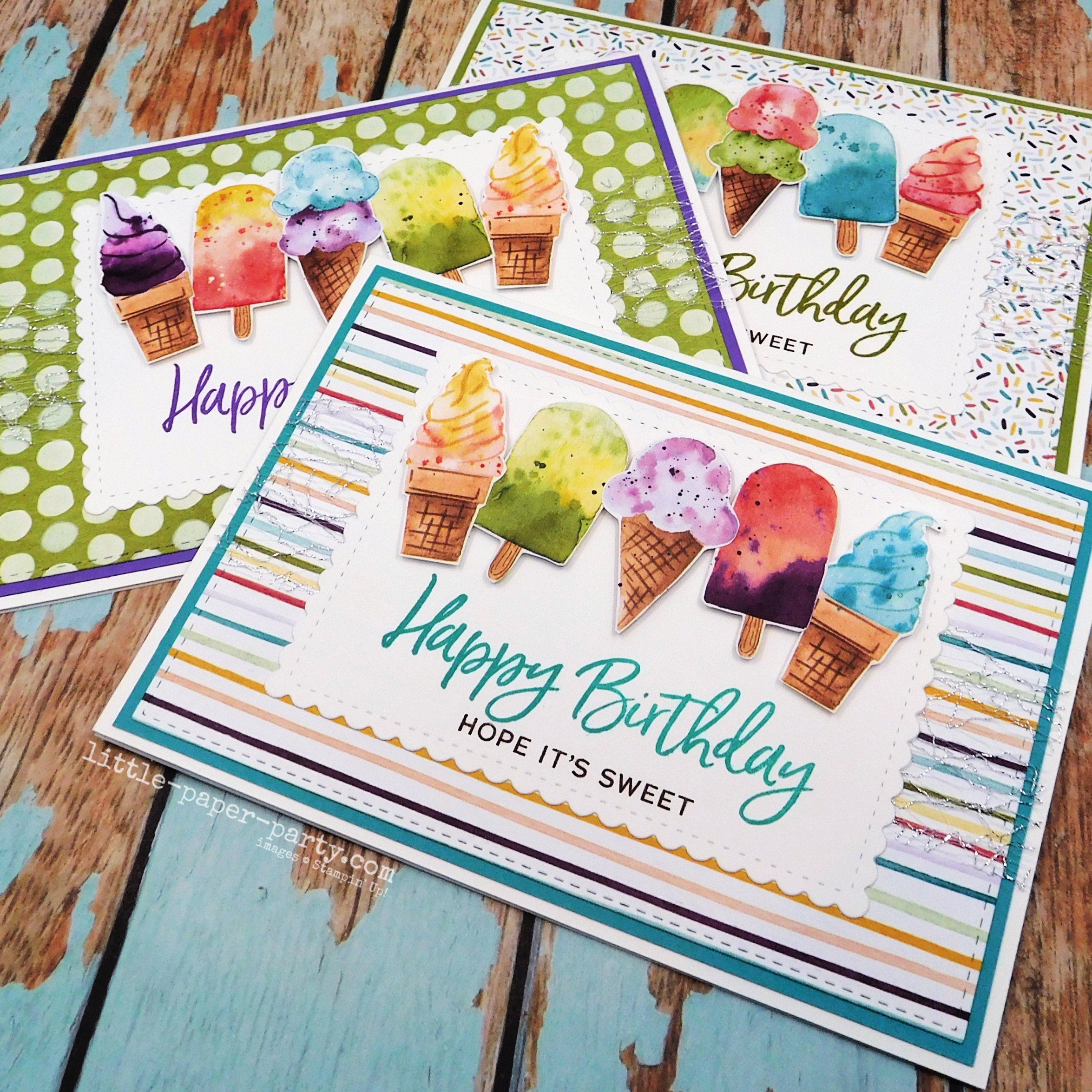 Little Paper Party, Sweet Ice Cream, Ice Cream Corner DSP, Stitched So Sweetly Dies 2